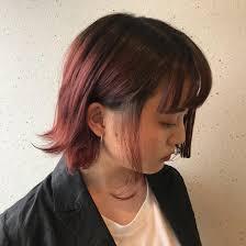 Red Purple ケアブリーチでダメージ少なく お洒落なヘアスタイルに