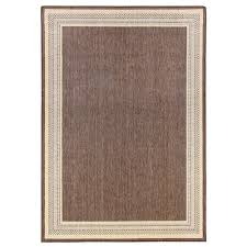 this review is from border brown flat woven weave 7 ft x 11 ft indoor outdoor area rug