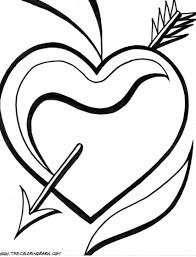 Small Picture Roses And Hearts Coloring Pages Printable Coloring Pages Of Hearts