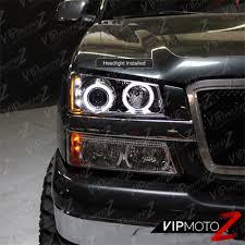 2003-2006 Chevy Silverado Halo LED Projector Headlights 04-06 ...