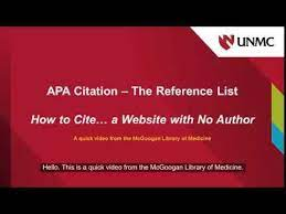 to cite a with no author