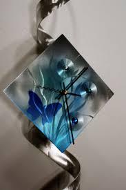 metal wall art sculpture clock modern abstract painting decor linda kovacs k75 on teal blue metal wall art with metal wall art sculpture clock modern abstract painting decor
