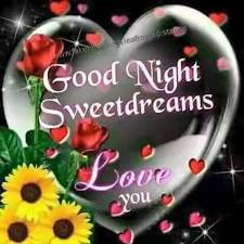 good night sweet dreams love you