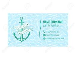 Business Card Template For Yacht Club Sea Transport Or Travel
