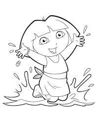 Coloring Pages Of Dora Coloring Pages The Explorer Color Page Lots