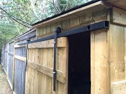 diy shed door roll