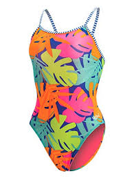 Dolfin Womenu0027s Uglies Prints Double Strap Back Swimsuit (Tropic Time, 28)