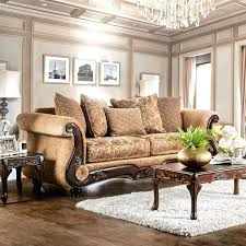 couch with wood trim couch with wood trim unthinkable traditional chenille fabric gold bronze sofa by