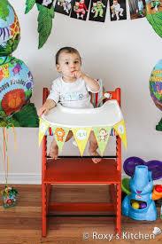 giraffes safari jungle themed first birthday party diy high chair banner free printable included