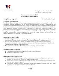 Ideas Collection Resume Cv Cover Letter Event Planner Resume Mary