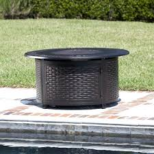 48 round patio table fire sense round propane fire pit patio table