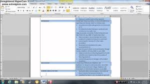 Designing Your Resume In Microsoft Word Youtube How To Make A