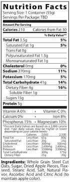 nutrition info for better oats steel cut apples cinnamon cup
