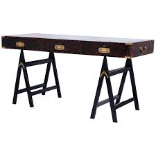 campaign style desk century campaign style desk with a faux tortoise s finish 1 campaign style campaign style desk