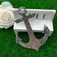 <b>Happymems</b> Ipcs Anchor Iron On Patches Silver Glitter Iron On ...