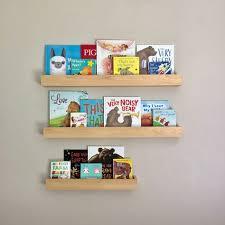 wood book shelf wall mount