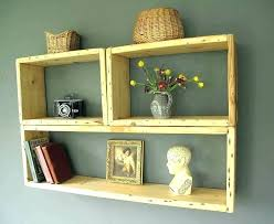 glass cube display shelves small floating corner wall bookshelves hanging shelf wooden shelving unit pottery barn