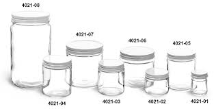 clear glass jars clear straight sided glass jars w white metal plastisol lined caps