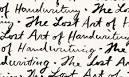 The art of handwriting