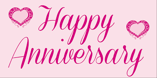 happy anniversary banners anniversary banner pink