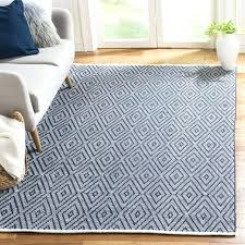 collection handmade navy and ivory cotton rug flatweave della grey flat weave runner