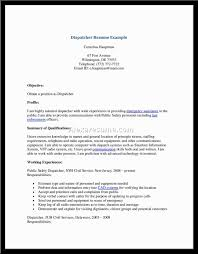 Resume Truck Dispatcher Resume