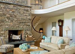 fantastic living room interior design ideas stone fireplace