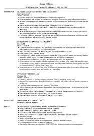 Inventory Technician Resume Samples Velvet Jobs