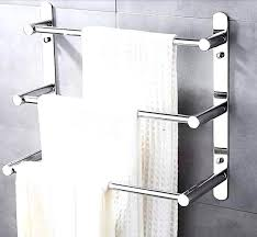 towel bar with towel. Staggering Steel Wall Mounted Towel Bar Bathroom Rack Layers Shelf Accessories With