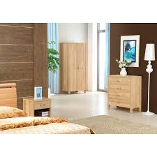 Light Oak Bedroom Furniture Oxley Light Oak Bedroom Trio Set Two Door Wardrobe Two Drawer