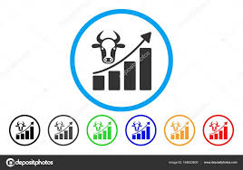 Cattle Chart Cattle Chart Grow Up Rounded Icon Stock Vector Ahasoft