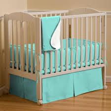 solid teal mini crib bedding