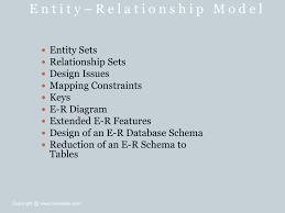 Er Design Issues E R Model Bca Notes