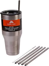 4 WIDE 40-Ounce Stainless Steel Straws (NO CUP ... - Amazon.com