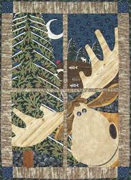 Northwoods Moose Window Pane Quilt – Quilting Books Patterns and ... & Northwoods Moose Window Pane Quilt Adamdwight.com