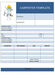 Generic Invoice Form Lovely 25 Best Carpenter Invoice Templates ...