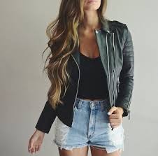 jacket leather jacket black leather shorts perfecto black perfecto black jacket crop tops black crop top