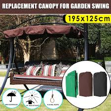 summer swing chair awning waterproof top cover canopy replacement for garden courtyard ourdoor swing chair hammock canopy