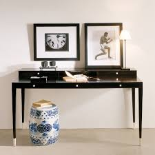 black writing desk. Modern Italian Ebony Writing Desk Black