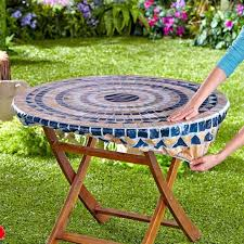 disposable fitted round elastic picnic table covers