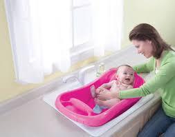 baby infant bath tub safety pink seat bathing newborn shower mesh sling toddler