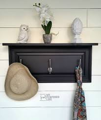 Repurposed Coat Rack DIY Upcycled Cupboard Door Create and Babble 77