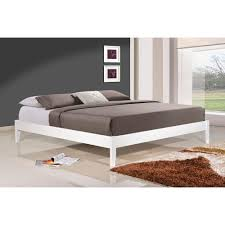 white metal platform bed. Beautiful Bed White Solid Wood Platform Bed Frame On Metal I