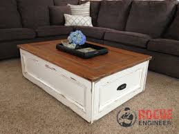 fancy distressed coffee table and diy coffee table with storage free plans rogue engineer