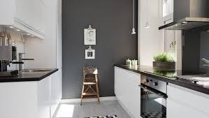 Grey Wall Mixes Very Well Brick Modern Kitchen