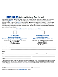 Business Contract Template 6 Free Templates In Pdf Word