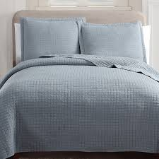 hill holmes stonewashed quilt set king in slate