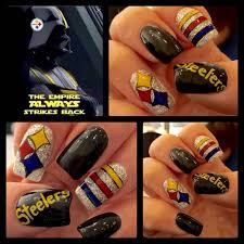 Hand Painted Steelers nail art by Christine (artsychris) Instagram ...