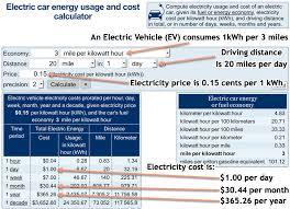 Electric Car Energy Usage And Cost Calculator Aqua Calc Forums