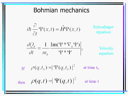 bohmian mechanics schrodinger equation velocity equation at time t0 if